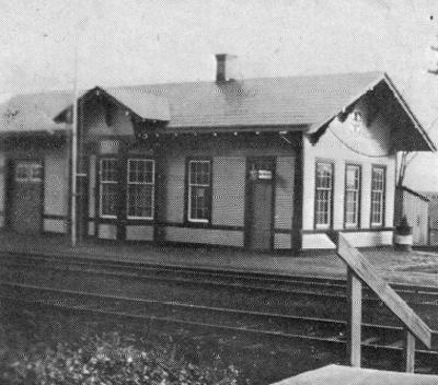 Historic Santa Fe Depot at Lawson, Missouri photo