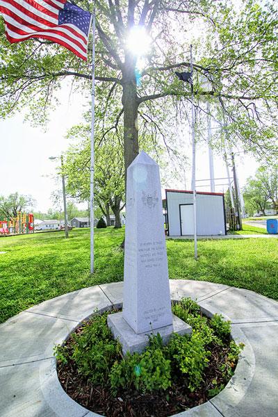 Photo of Veteran Memorial in Lawson Park